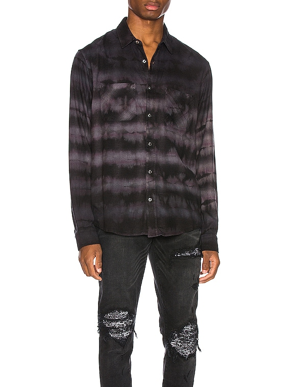 Tie Dye Shirt in Black & Grey
