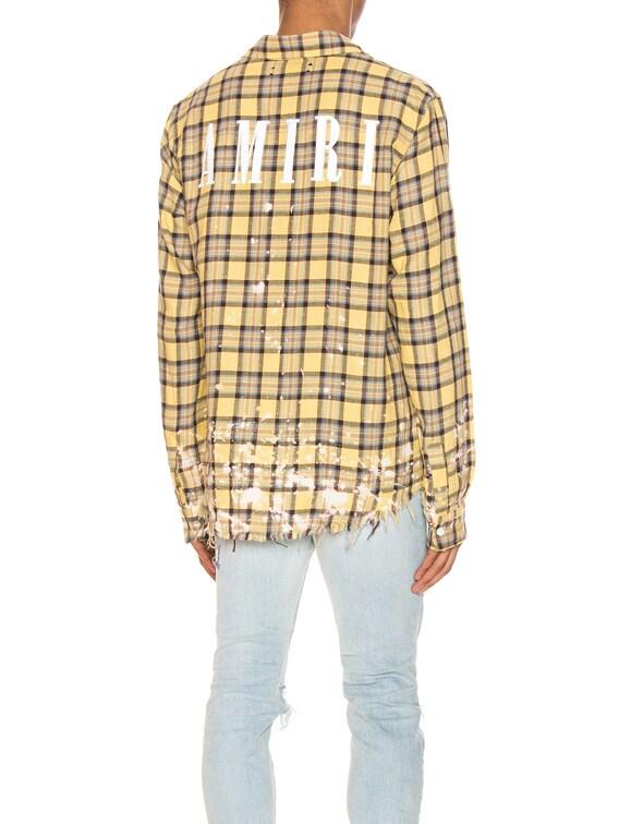 Splatter Plaid Shirt in Yellow & Brown