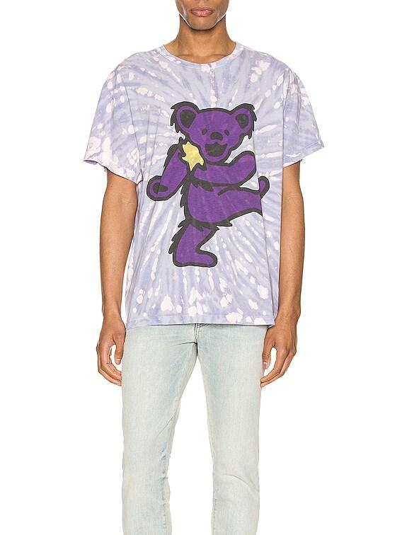 Grateful Dead Bear Tie Dye Tee in Lavender