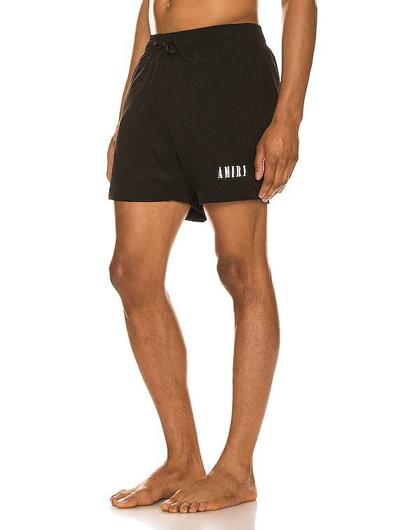 AMIRI Core Swim Trunks in Black