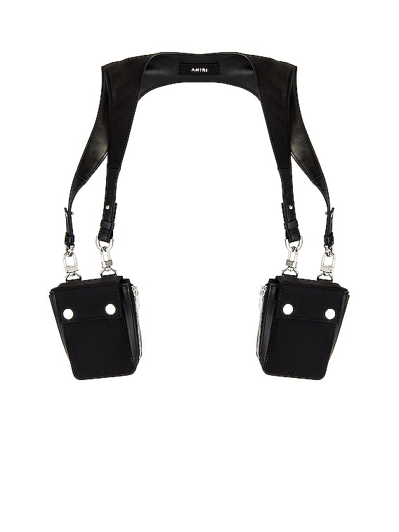 Nylon Harness Bag in Black