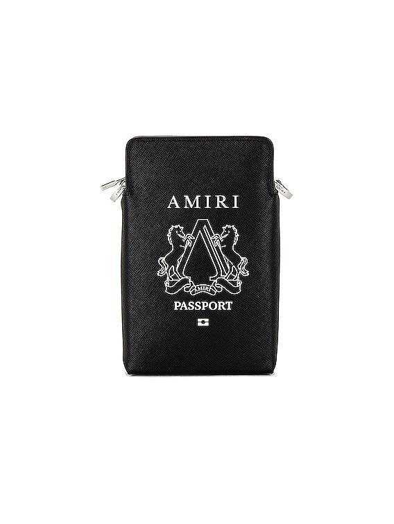 Passport Holder Bag in Black & Silver