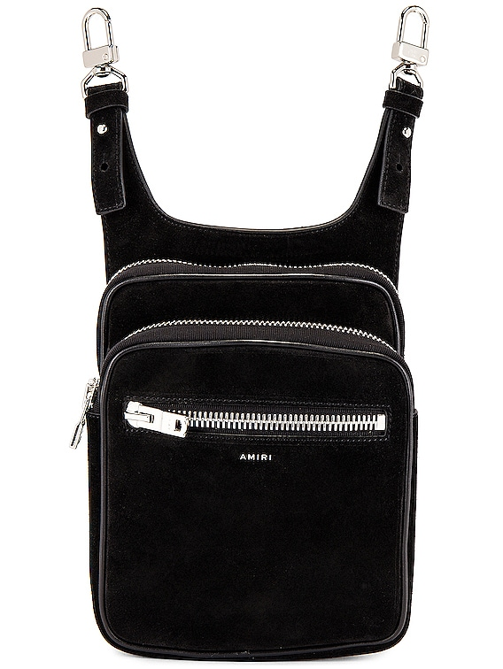 Suede Hip Pouch in Black
