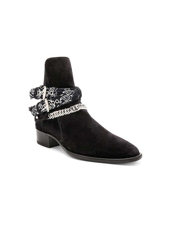 Bandana Buckle Boot in Black