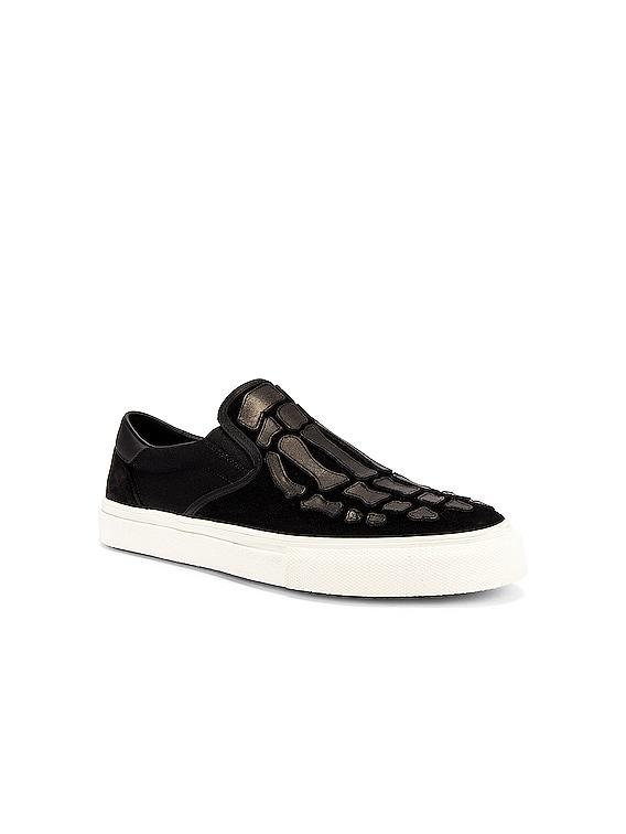 Skeleton Slip On Sneaker in Black