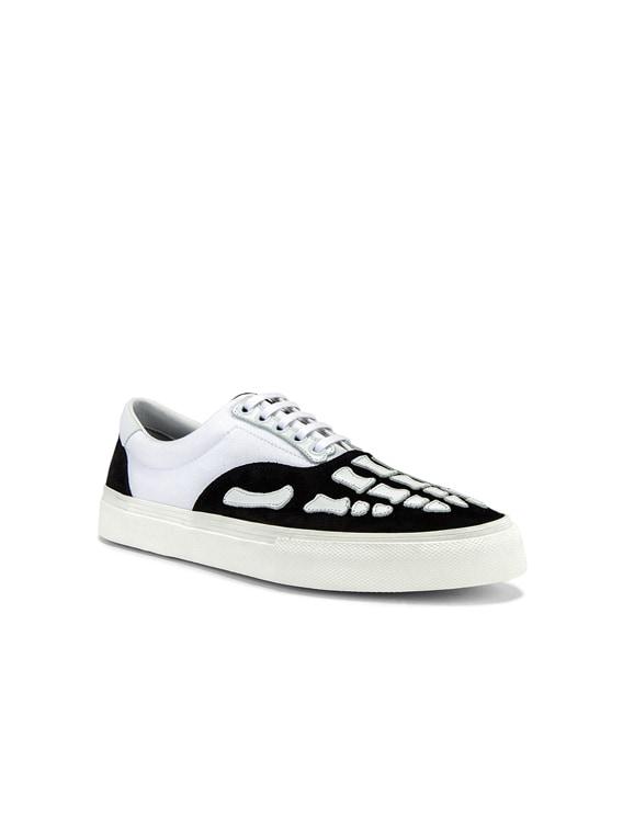 Skel Toe Lace Up Sneaker in Black & White