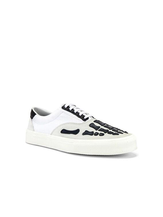 Skel Toe Lace Up Sneaker in White & Black