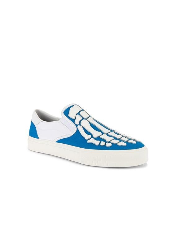 Skel Toe Slip On in Blue & White & White