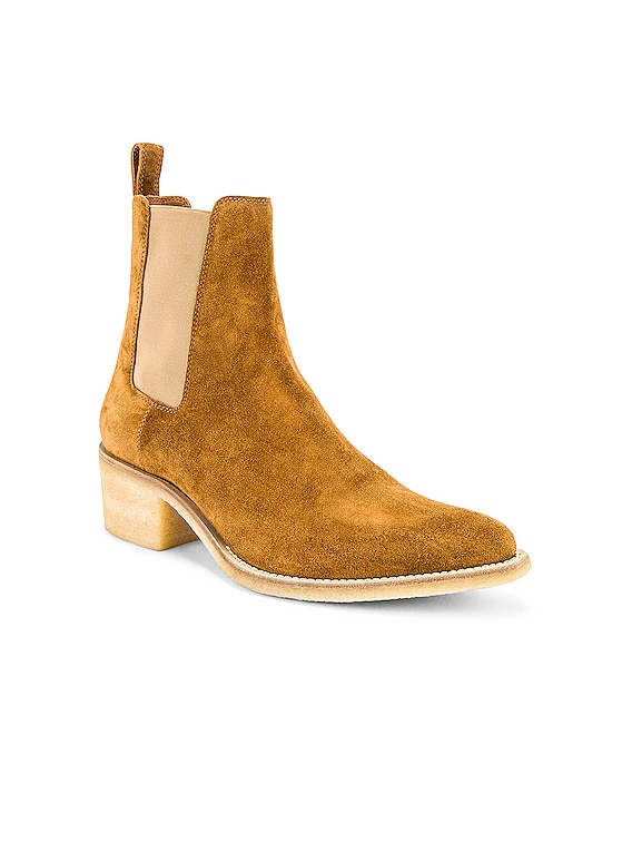 Crepe Chelsea Boot in Khaki