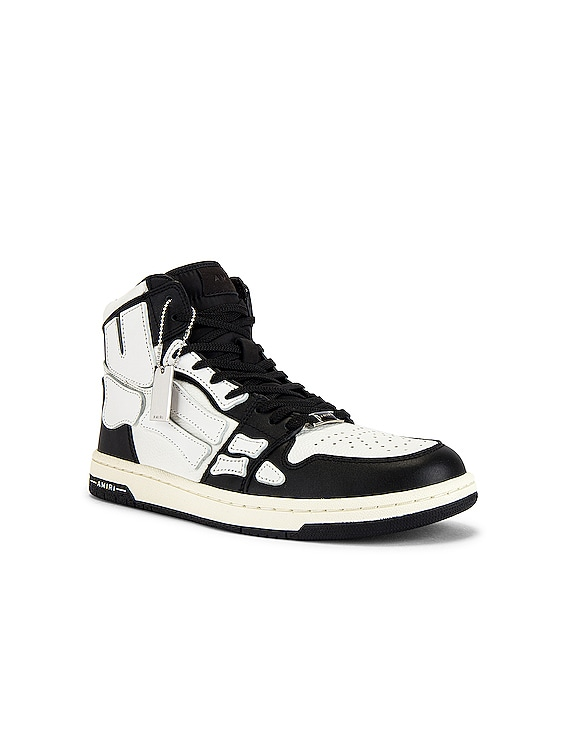 Skel Hi-Top Sneakers in Black & White