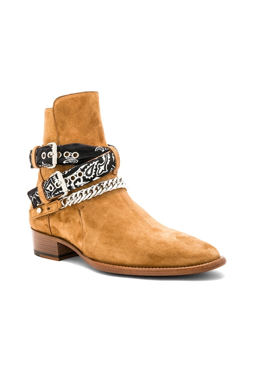 Bandana Buckle Boot in Brown