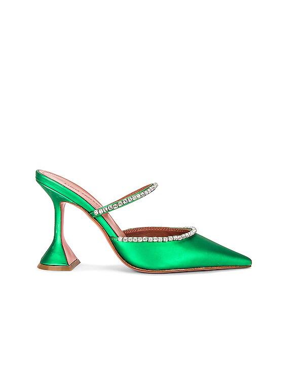 Gilda Matte Mirror Mule in Green