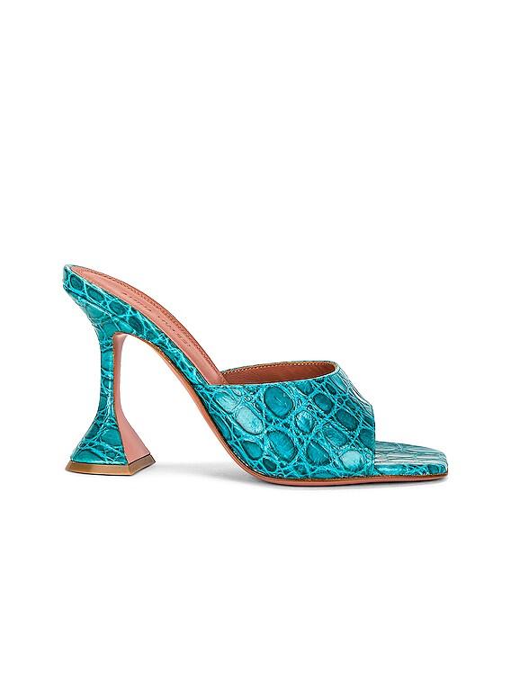 Lupita Slipper in Horizon Blue Cocco Print