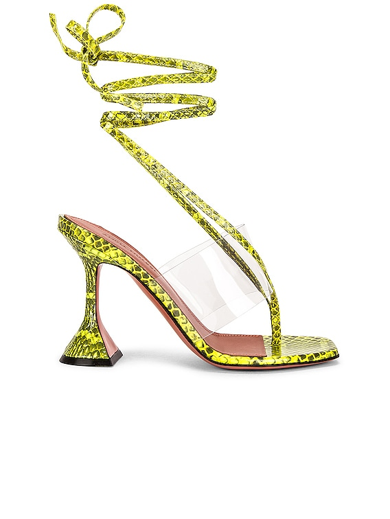Zula Sandal in Lime Watersnake