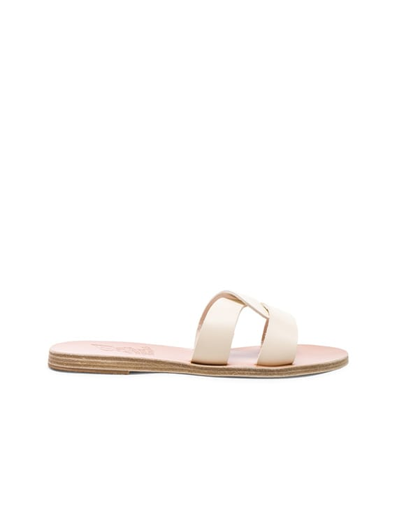 Leather Desmos Sandals in Off White