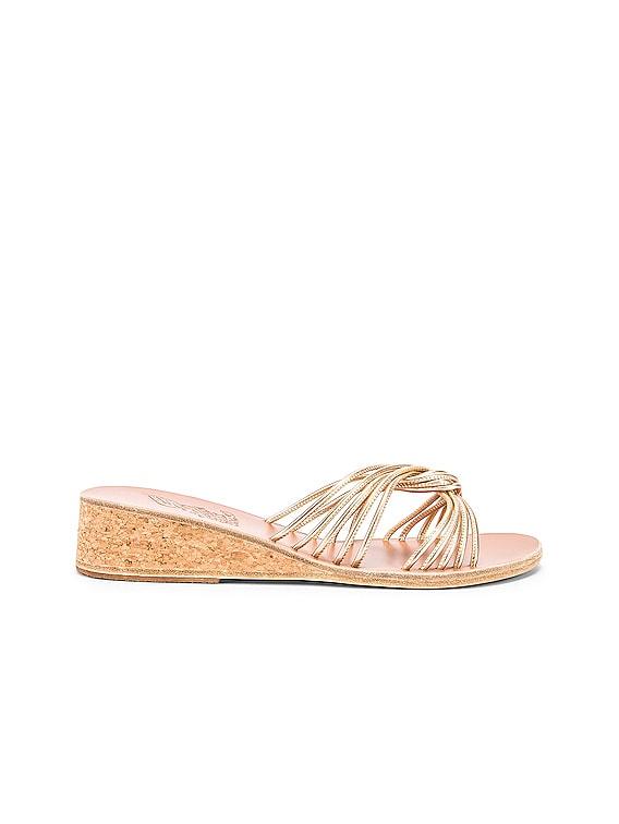 Xanthi Wedge Sandals in Platinum
