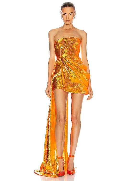 Blaine Dress in Orange