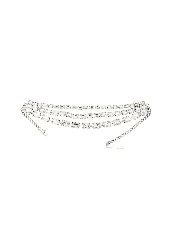 Baguette Crystal Choker in Clear & Silver
