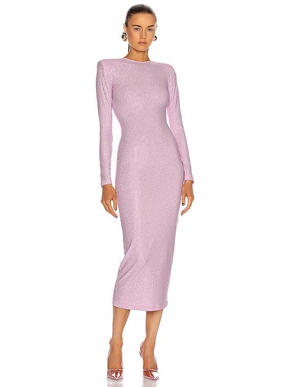 Crystal Midi Dress in Pink