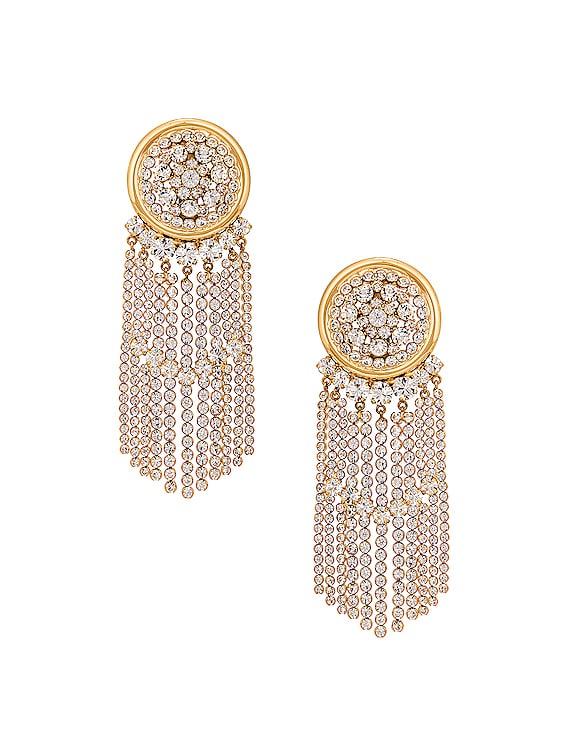 Crystal Cascade Earrings in Gold