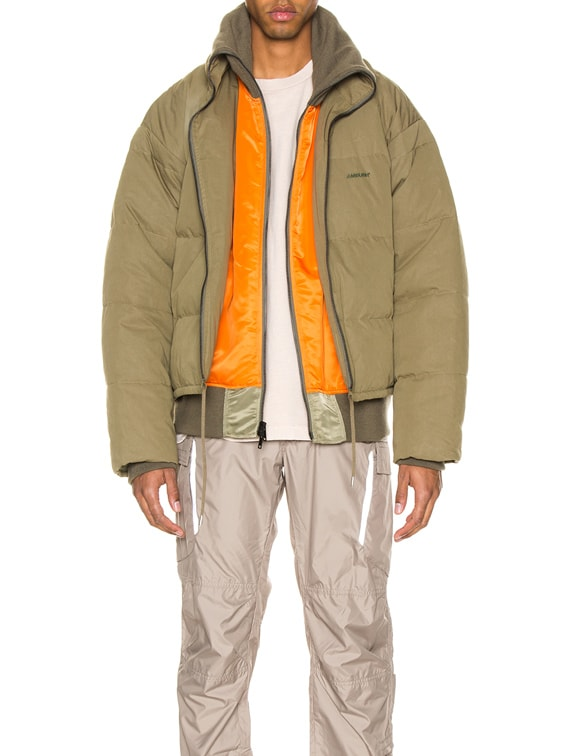 Padded Reversible Jacket in Olive