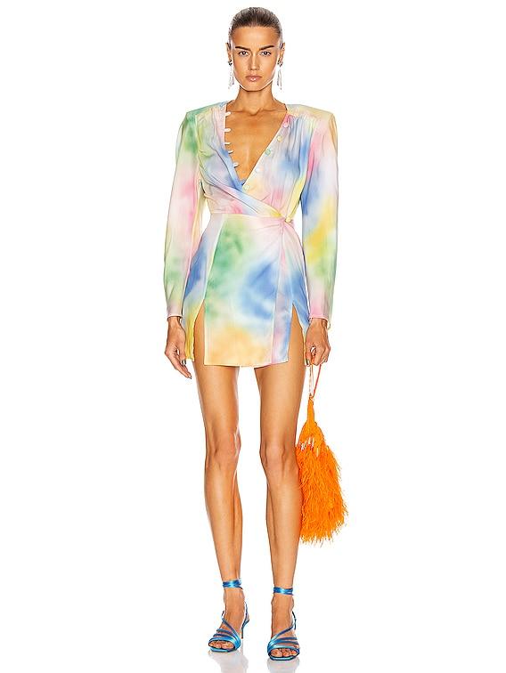 Lauren Mini Dress in Pastel Multicolor