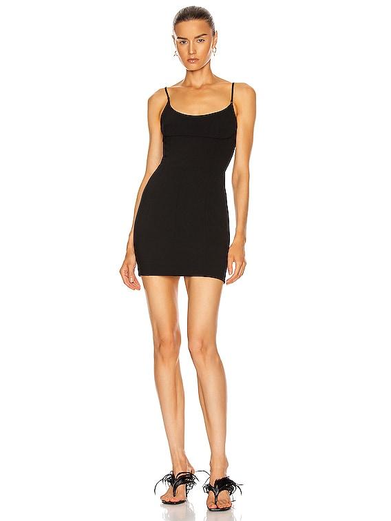 Tailored Cami Dress in Black