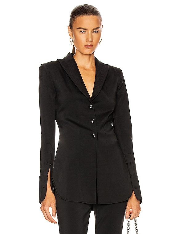 Fitted Shirt Jacket in Black