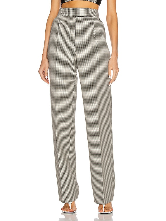 High Waisted Pleated Pant in Black & White