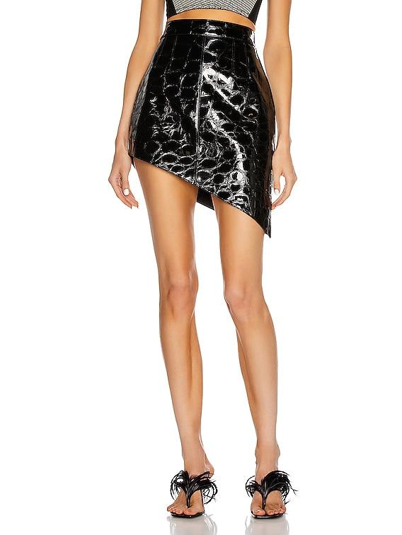 Asymmetric Mini Skirt in Black