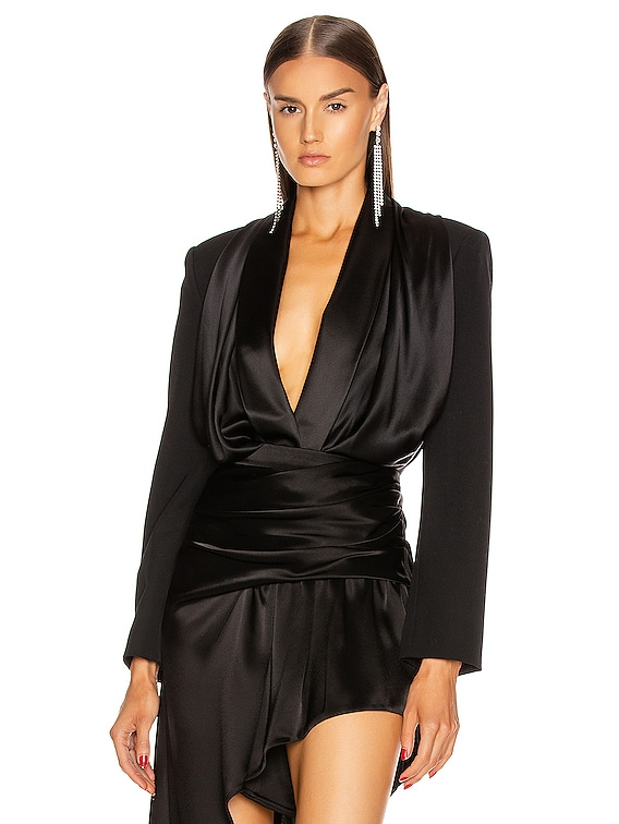 Blazer Hybrid Bodysuit in Black