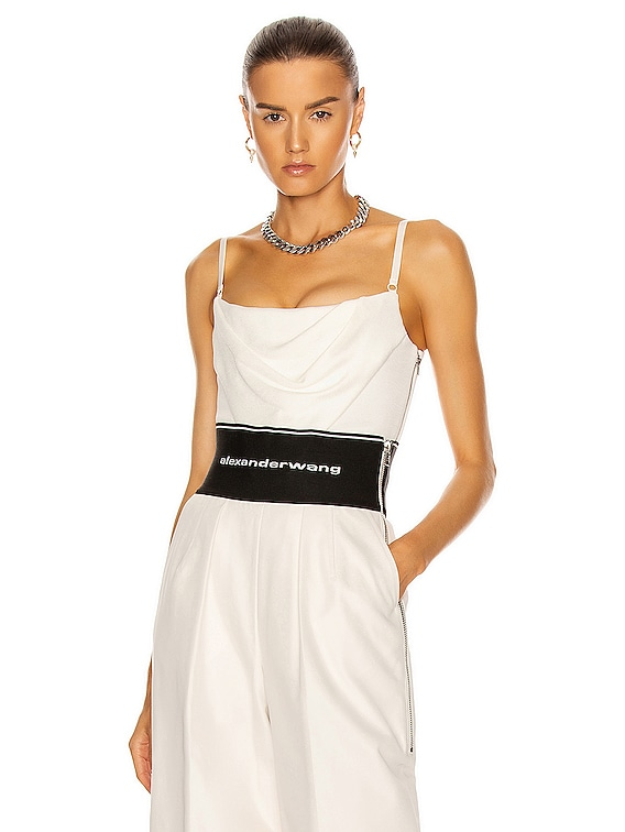 Draped Cami Corset Top in Ivory