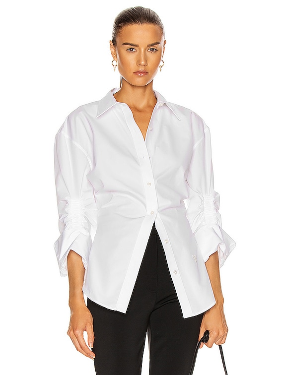 Oversized Button Down Shirt in White