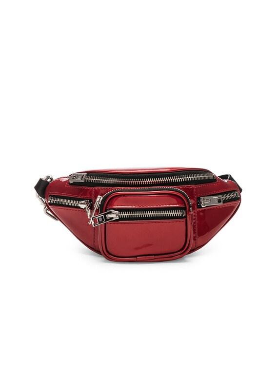 Attica Patent Mini Fanny Pack in Red