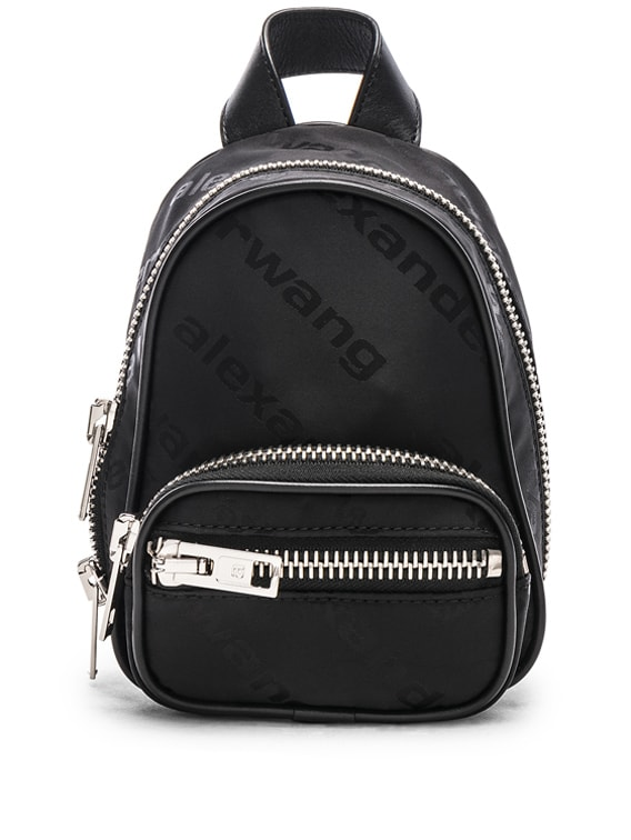 Jacquard Logo Atticca Mini Backpack in Black