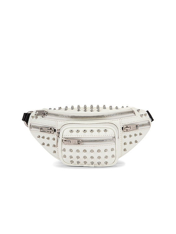 Attica Soft Mini Fanny Crossbody Bag in White