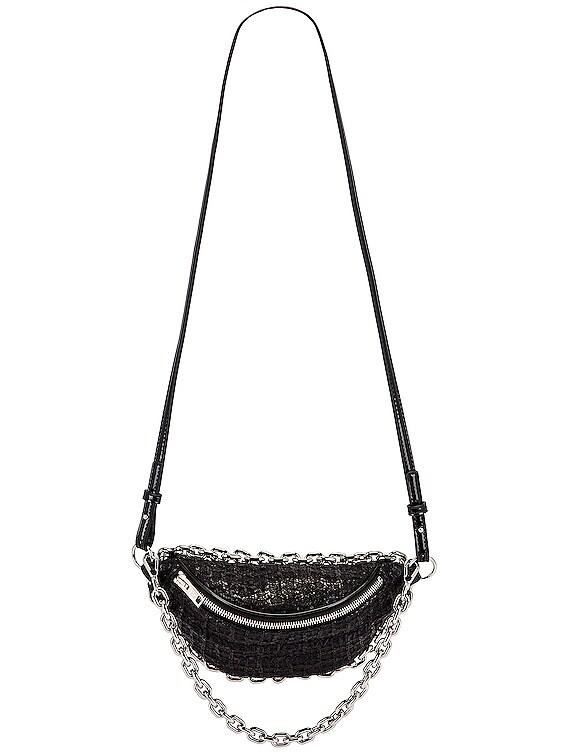Attica Soft Hybrid Tweed Fanny Pack in Black