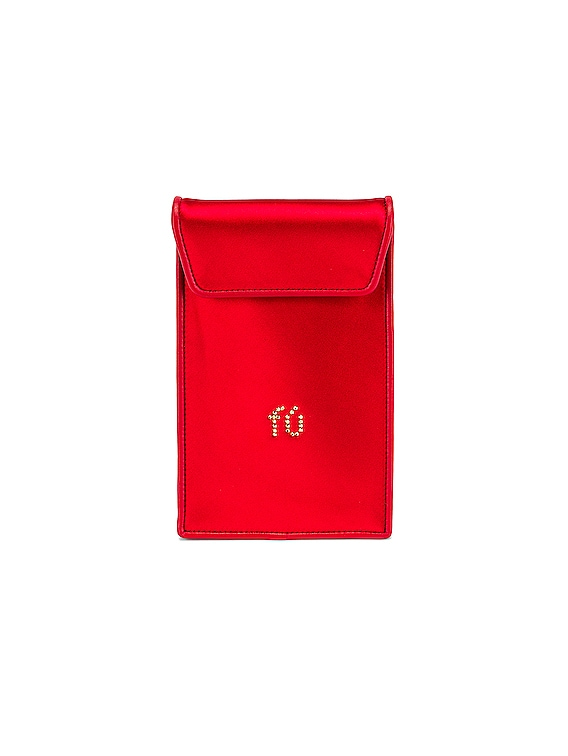 Wangloc Envelope Phone Pouch in Red Multi