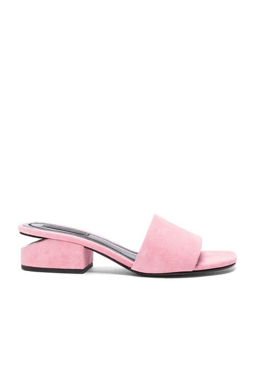 Suede Lou Slides in Pink