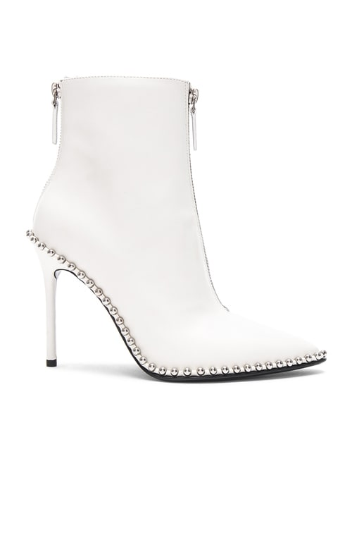Leather Eri Boots in White Leather