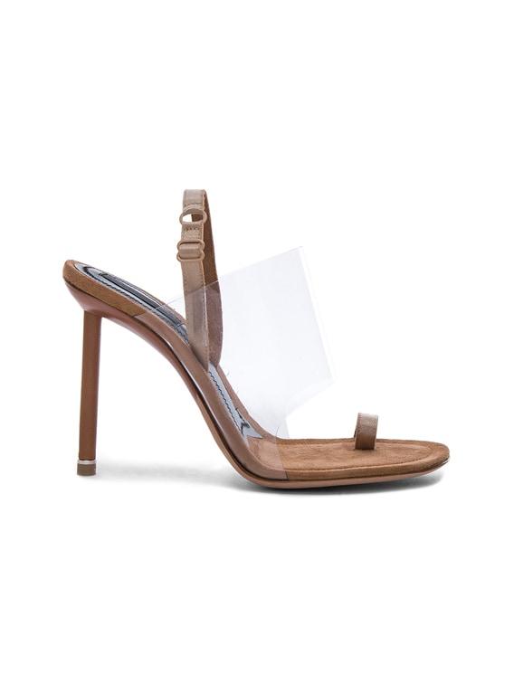 PVC Kaia Heels in Nude