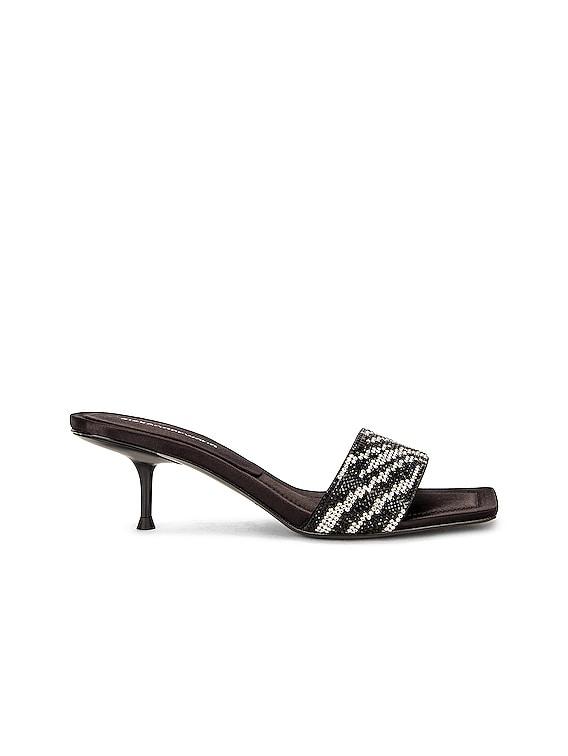 Jessie Zebra Crystal Sandal in Zebra