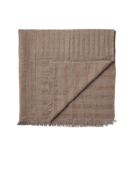 Contra Throw Blanket in Taupe