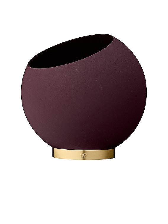 Medium Globe Flower Pot in Bordeaux