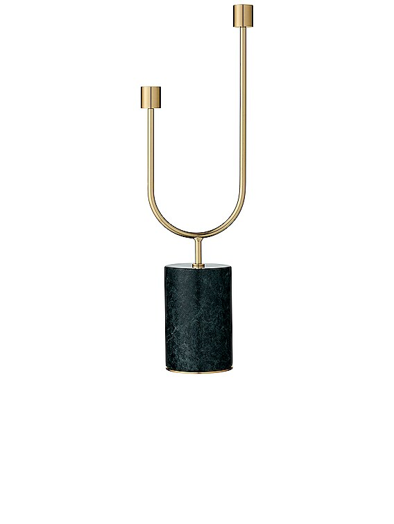 Grasil Candle Holder in Forest & Gold