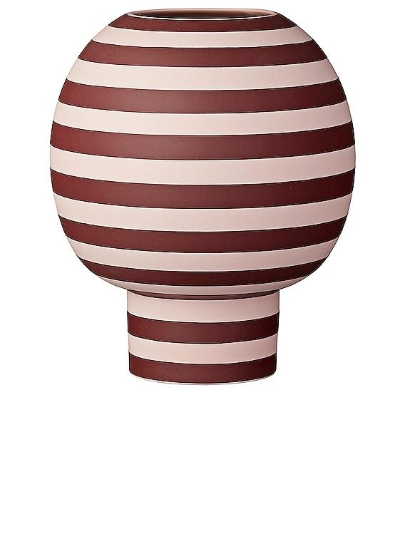 Varia Round Vase in Rose & Bordeaux