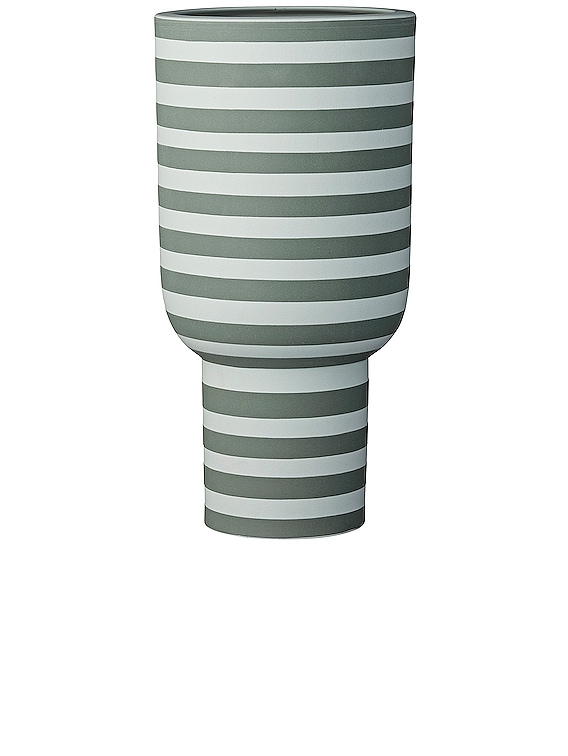 Varia Tall Vase in Dusty Green & Forest