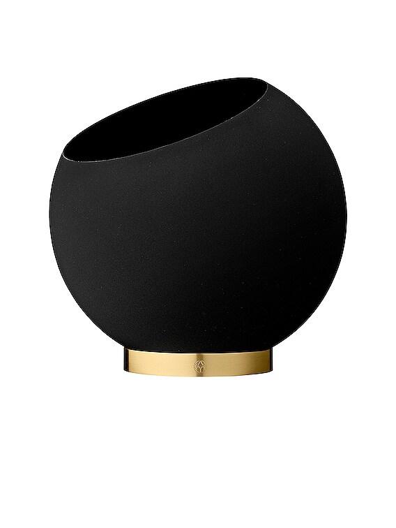 Medium Globe Flower Pot in Black