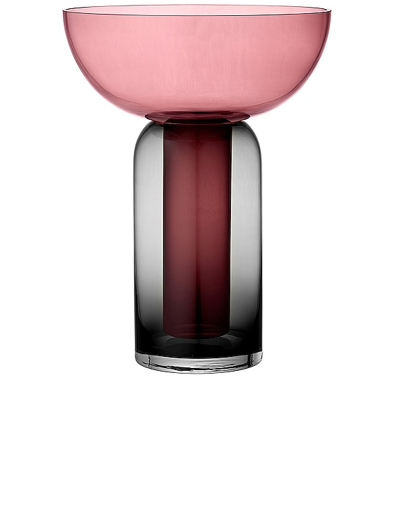Torus Vase in Black & Rose