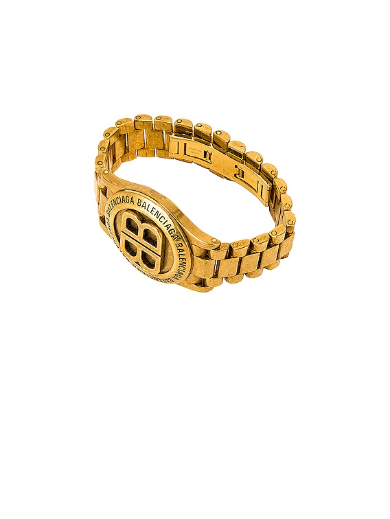 Time Bracelet in Antique Gold